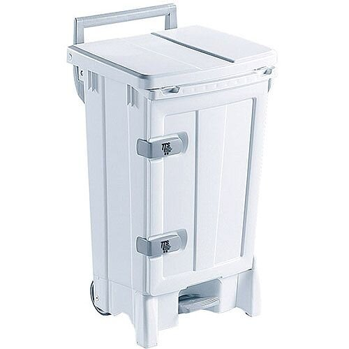 Open Front Bin 90 Litre White/Grey 329128
