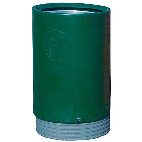 Outdoor Open Top Litter Bin 75 Litre Green 321776 124502