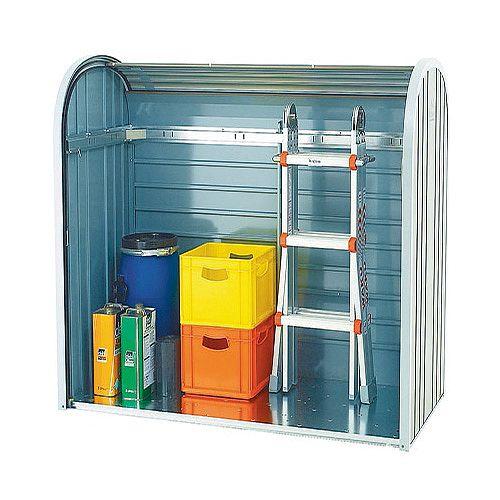 Outdoor Storage Locker 2-piece Roller Metallic Silver 328664