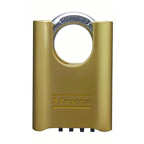 Padlock Combi Change Shackle 57x25mm Brass 319377