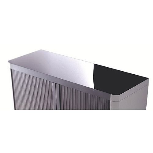 Paperflow Easy Office Cupboard 1 Metre Black/Black with 2 Shelves EE000006