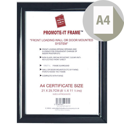 Photo Album Company Promote It Frame A4 Black PAPFA4B-BLK