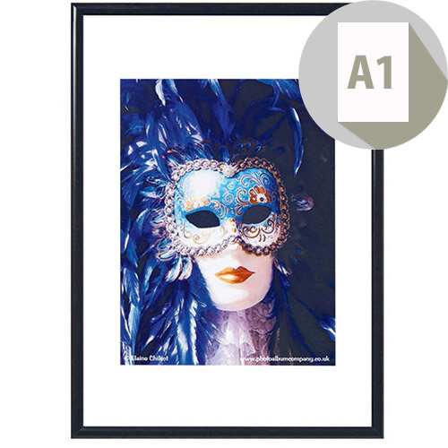Photoalb A1 Aluminium Non Glass Frame Black Pk1