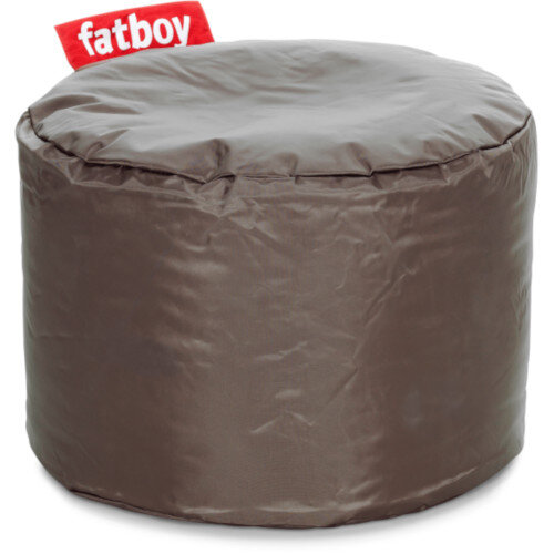 The Point Bean Bag Pouf Stool 35x50cm Taupe Suitable for Indoor Use - Fatboy The Original Bean Bag Range