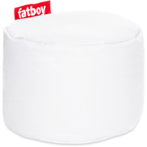 The Point Bean Bag Pouf Stool 35x50cm White Suitable for Indoor Use - Fatboy The Original Bean Bag Range