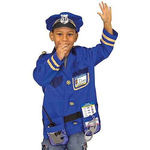 Police Officer Kids Costume 3-6 Years