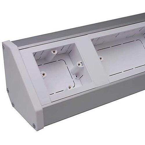 Bench Trunking body with lid 2m lgth - White