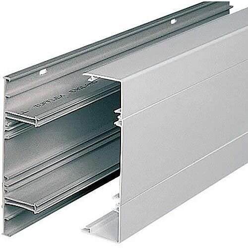 3 Compartment Dado Trunking - White
