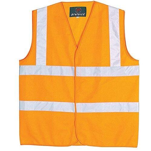 Proforce Orange High Visibility Vest Class 2 Medium