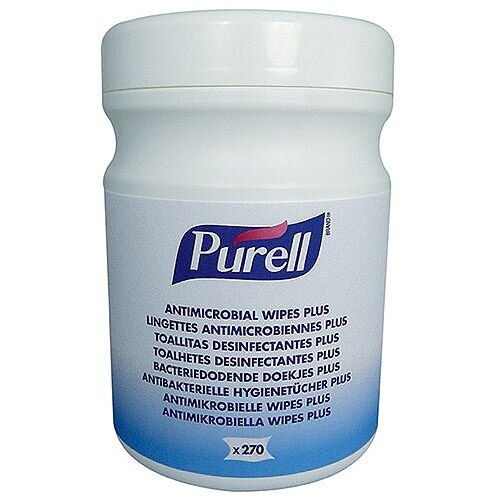 Purell Antimicrobial Sanitising Hand Wipes Pack 1 (270 Wipes) 9213-06-EEU00