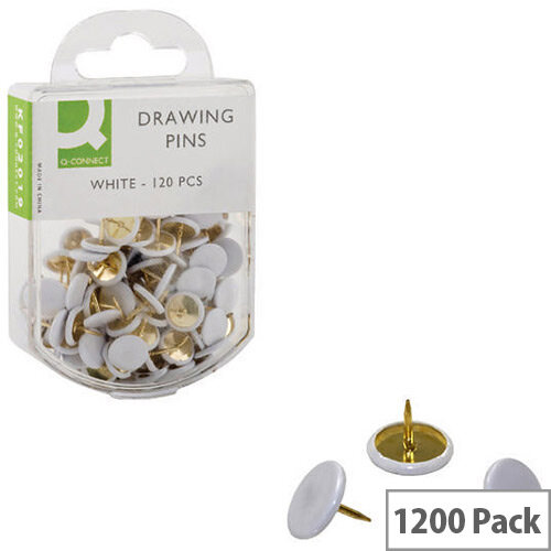 Q-Connect Drawing Pin White Pack 10 x 120  KF02019Q