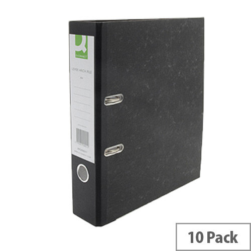 A4 Lever Arch File Board Pack of 10 Q-Connect KF20001