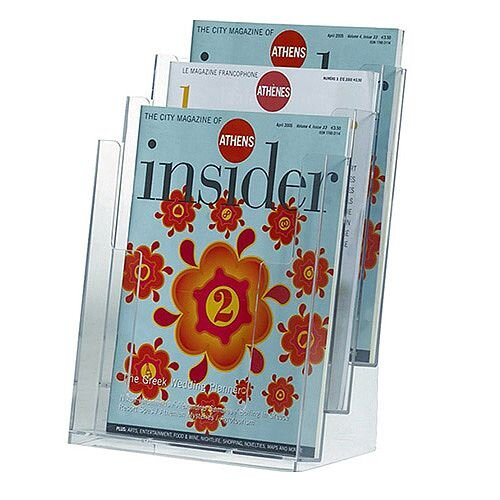Q-Connect Literature Holder Three Pockets KF04188