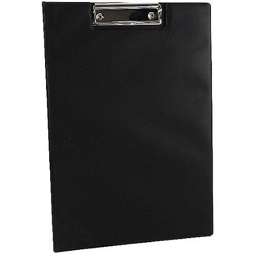Q-Connect PVC Foldover Clipboard Foolscap/A4 Black