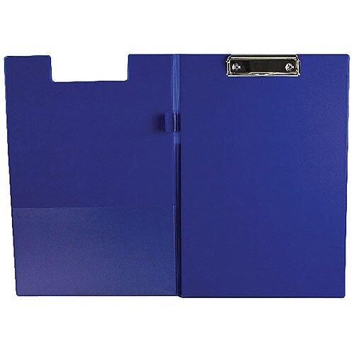 Q-Connect PVC Foldover Clipboard Foolscap/A4 Blue