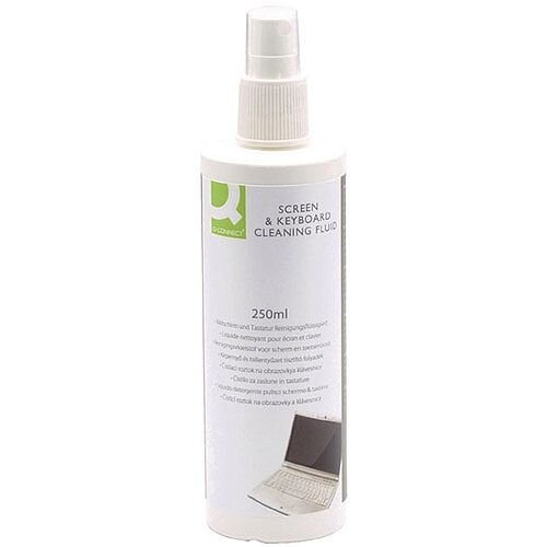 Q-Connect Screen &Keyboard Cleaning Fluid Pump Spray 250ml Pack of 1 KF04502