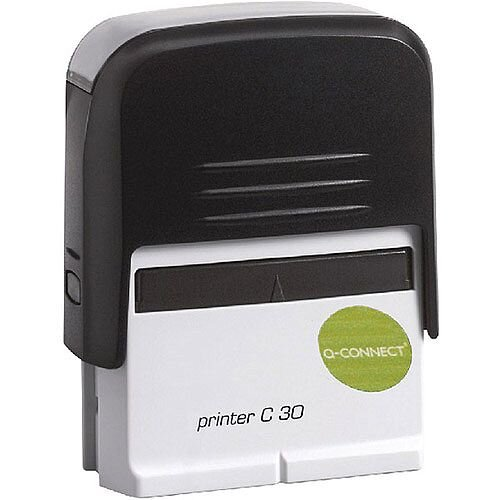 Q-Connect Voucher for Self-Inking Custom Stamp 45x16mm 5 Lines - Black - your own design with text and graphics
