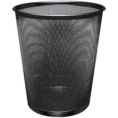 Q-Connect 18 Litre Waste Basket Mesh Black KF00871