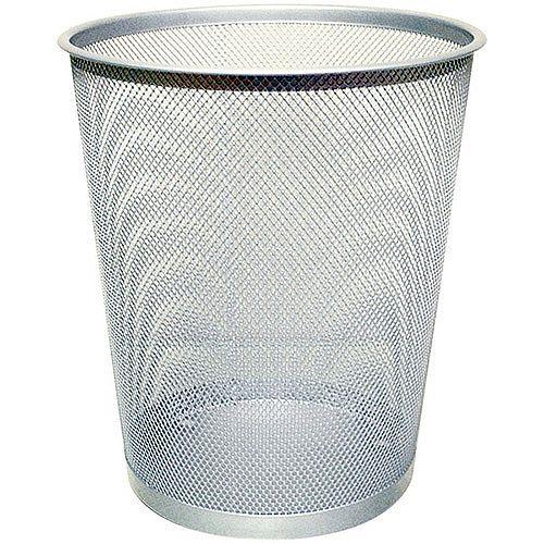 Q-Connect 18 Litre Waste Basket Mesh Silver KF00849