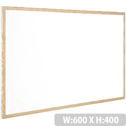 Q-Connect Whiteboard Wooden Frame 600x400mm – White Surface, Wall-Mountable, Home Or Office, Easily Cleaned, No Scratch Or Blemish, Durable &Non-Magnetic (KF03570)