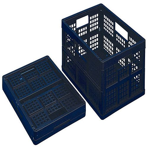 Really Useful 32 Litre Folding Crate Black Pack of 3 32FBBK