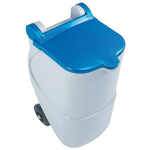 Recycling Wheelie Bin 90 Litre Non-Locking Blue 124600