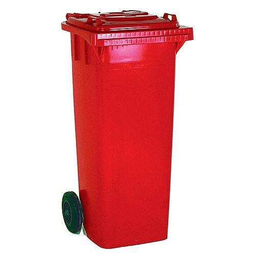 Wheelie Bin 120 Litre 2 Wheel Red 331115