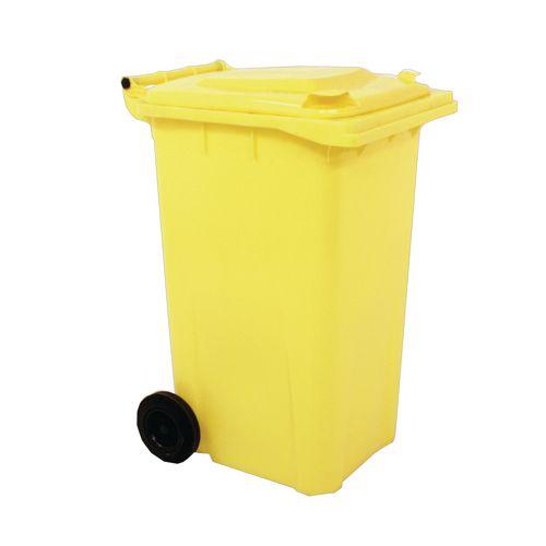 Wheelie Bin 240 Litre 2-Wheel Yellow