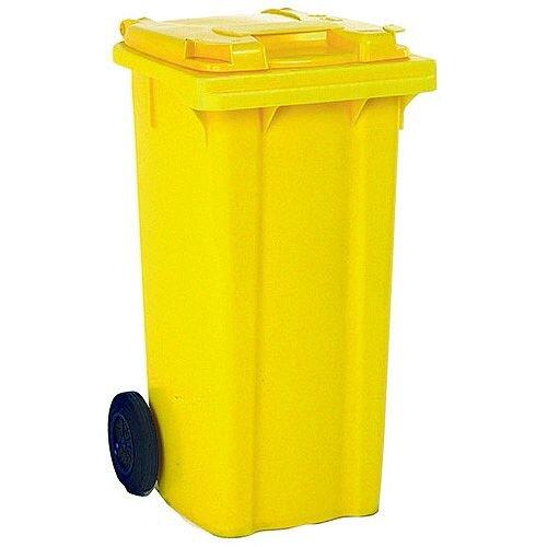 Wheelie Bin 80 Litre 2-Wheel Yellow