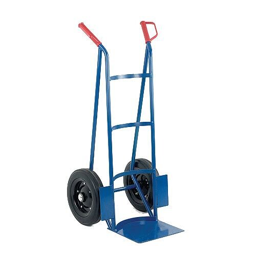 Rough Terrain Hand Truck Blue/Orange With Rubber Wheels 200kg Capacity 383373