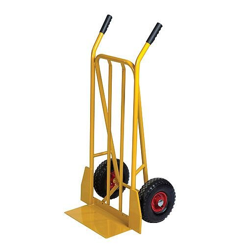 General Use Yellow Sack Truck With Pneumatic Wheels Capacity 250kg 382849