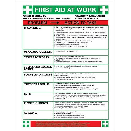 Safety Sign First Aid At Work