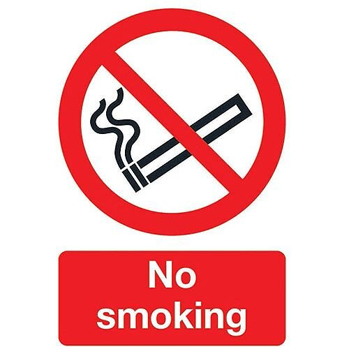 No Smoking Self-Adhesive Sign A5