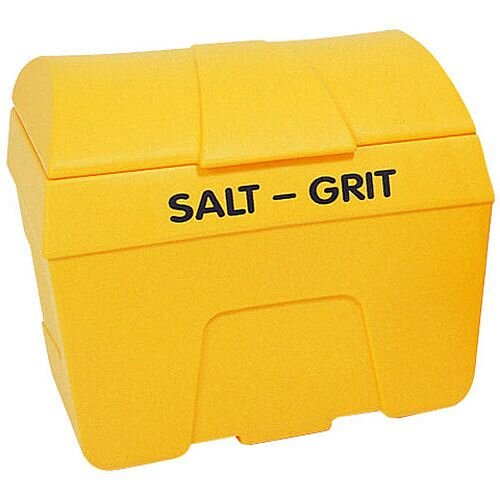 Winter De-icing Salt/Grit Bin with Hopper Feed 200 Litre Yellow 317060