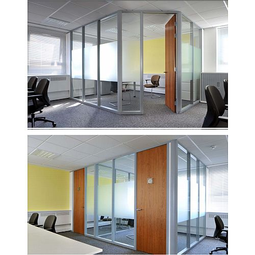 SAS SYSTEM 7000 Single Glazed Acoustic &Fire Rated Office Partitioning System