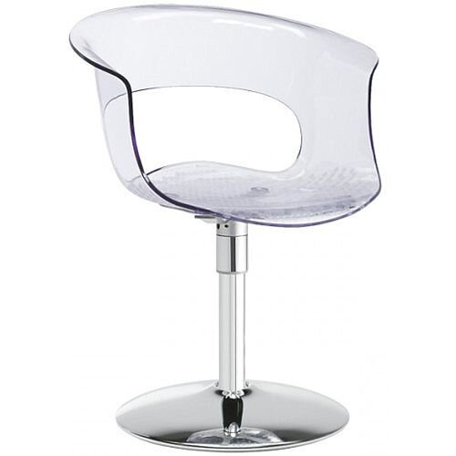 Miss B Twist Antishock Chair With Chrome Revolving Trumpet Base Transparent