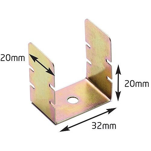38mm Trunking Fire Rated Clips Bag / 50