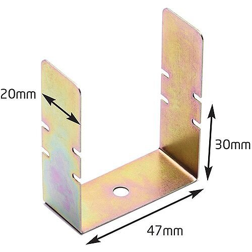 50mm Trunking Fire Rated Clips Bag / 50