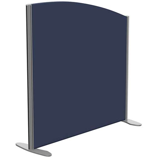 Sprint Eco Freestanding Screen Curved Top W1000xH1000-800mm Dark Blue - With Stabilising Feet