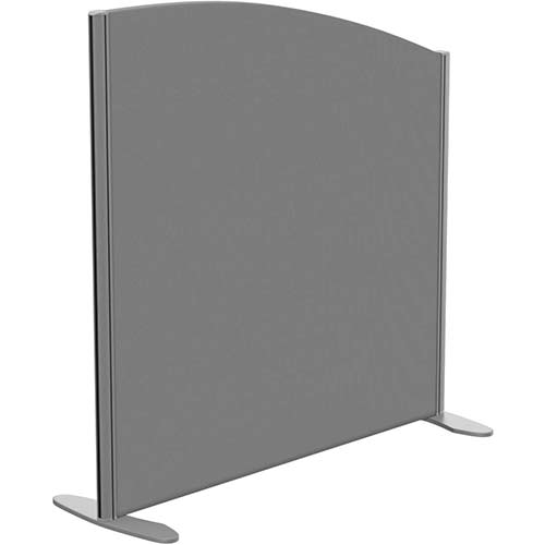 Sprint Eco Freestanding Screen Curved Top W1000xH1000-800mm Grey - With Stabilising Feet