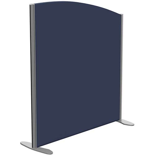 Sprint Eco Freestanding Screen Curved Top W1000xH1100-900mm Dark Blue - With Stabilising Feet