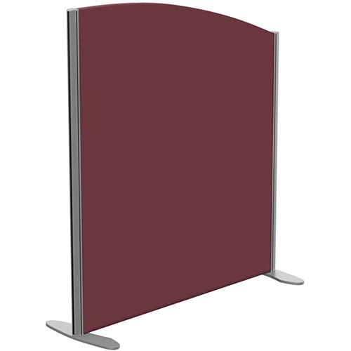 Sprint Eco Freestanding Screen Curved Top W1000xH1100-900mm Wine - With Stabilising Feet
