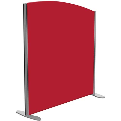 Sprint Eco Freestanding Screen Curved Top W1000xH1100-900mm Red - With Stabilising Feet