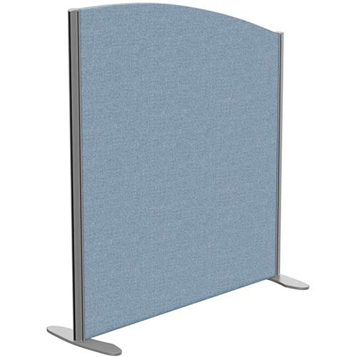 Sprint Eco Freestanding Screen Curved Top W1000xH1100-900mm Light Blue - With Stabilising Feet