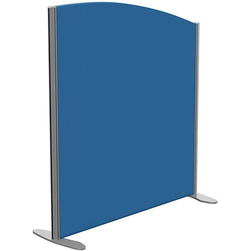 Sprint Eco Freestanding Privacy Acoustic Screen Curved Top W1000xH1100-900mm Blue - With Stabilising Feet