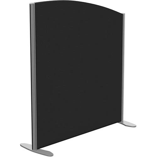 Sprint Eco Freestanding Screen Curved Top W1000xH1100-900mm Black - With Stabilising Feet