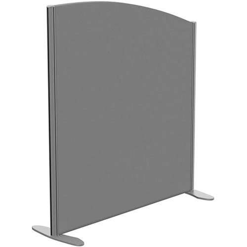 Sprint Eco Freestanding Screen Curved Top W1000xH1100-900mm Grey - With Stabilising Feet