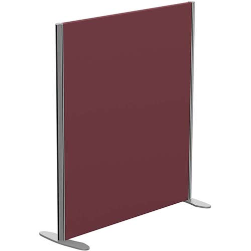 Sprint Eco Freestanding Screen Straight Top W1000xH1100mm Wine - With Stabilising Feet