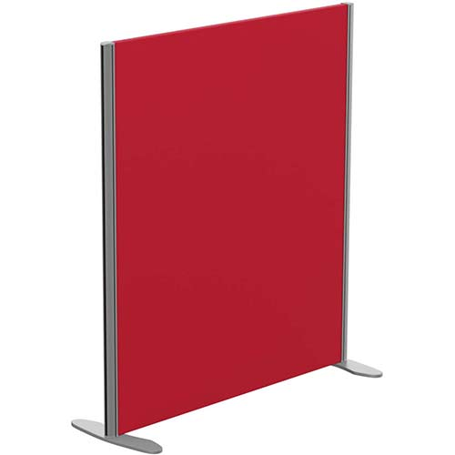 Sprint Eco Freestanding Screen Straight Top W1000xH1100mm Red - With Stabilising Feet