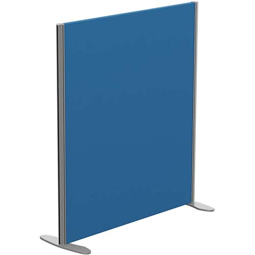Sprint Eco Freestanding Privacy Acoustic Screen Straight Top W1000xH1100mm Blue - With Stabilising Feet
